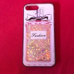 Accessories - iPhone 7 Plus liquid glitter perfume phone case